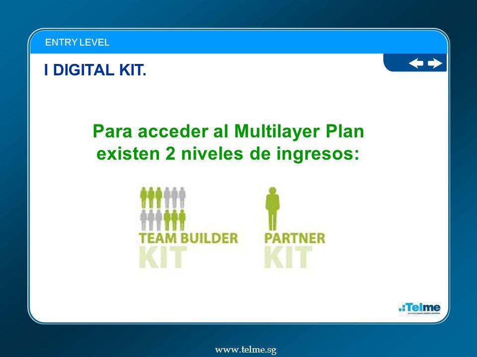 Para acceder al Multilayer Plan existen 2 niveles de ingresos: