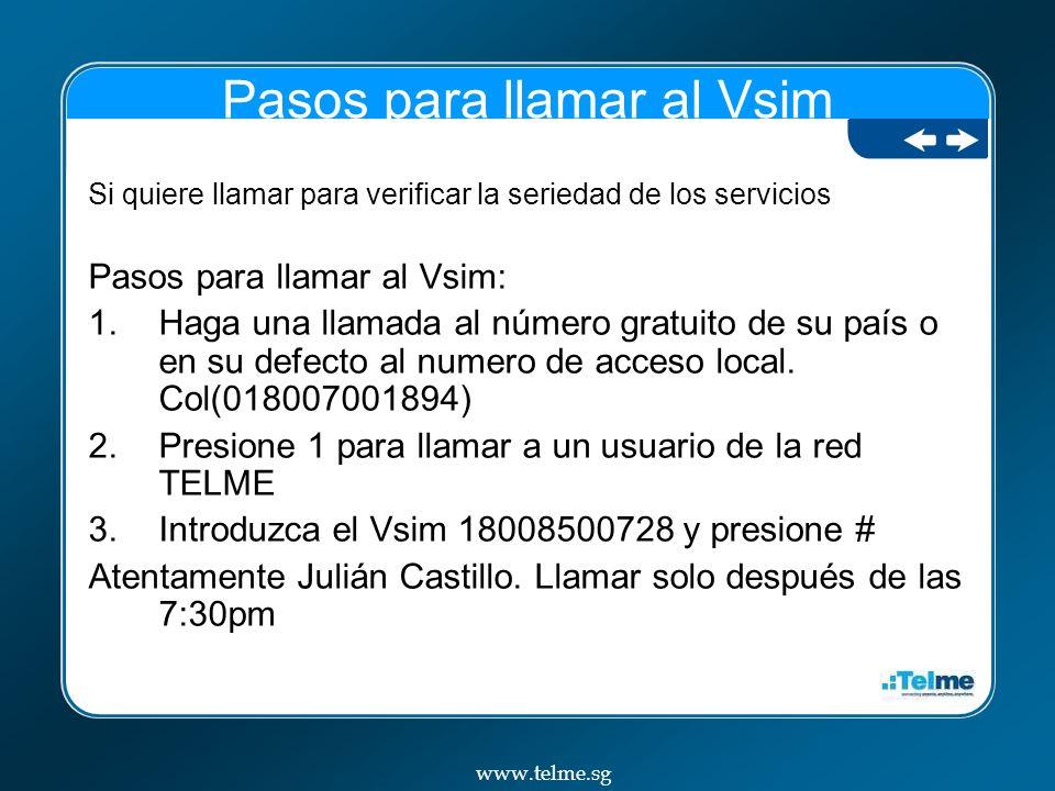 Pasos para llamar al Vsim