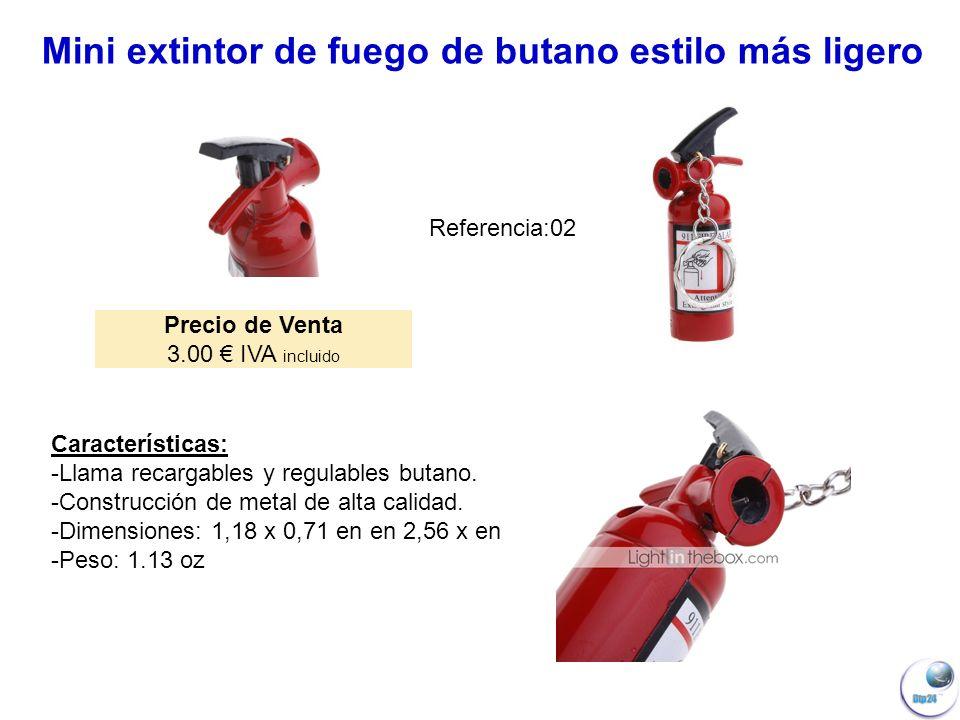 Mini extintor de fuego de butano estilo más ligero