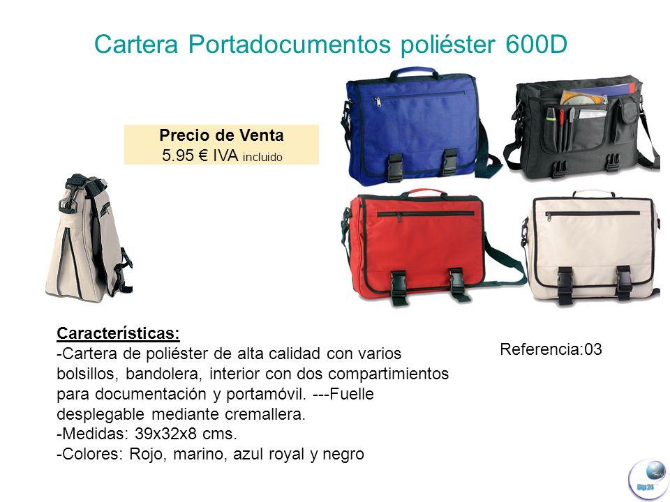 Cartera Portadocumentos poliéster 600D
