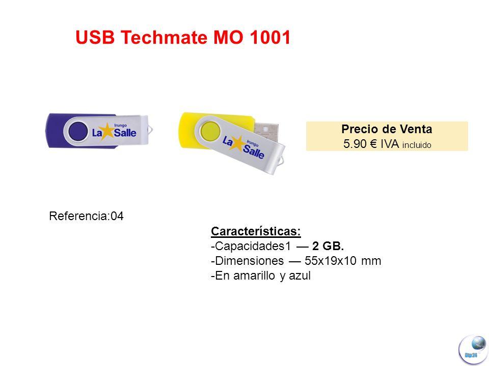 USB Techmate MO 1001 Precio de Venta 5.90 € IVA incluido Referencia:04