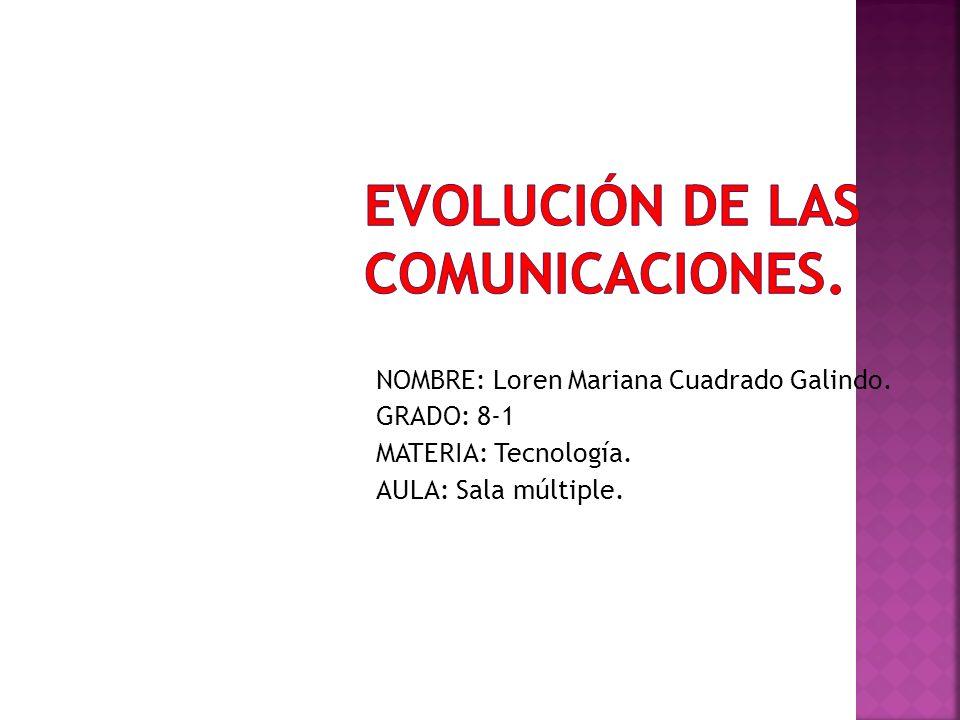 EVOLUCIÓN DE LAS COMUNICACIONES.
