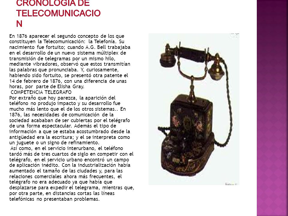 CRONOLOGIA DE TELECOMUNICACION