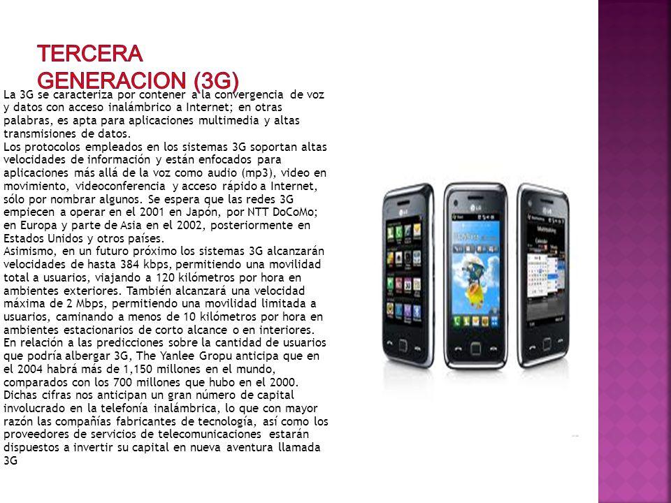 TERCERA GENERACION (3G)