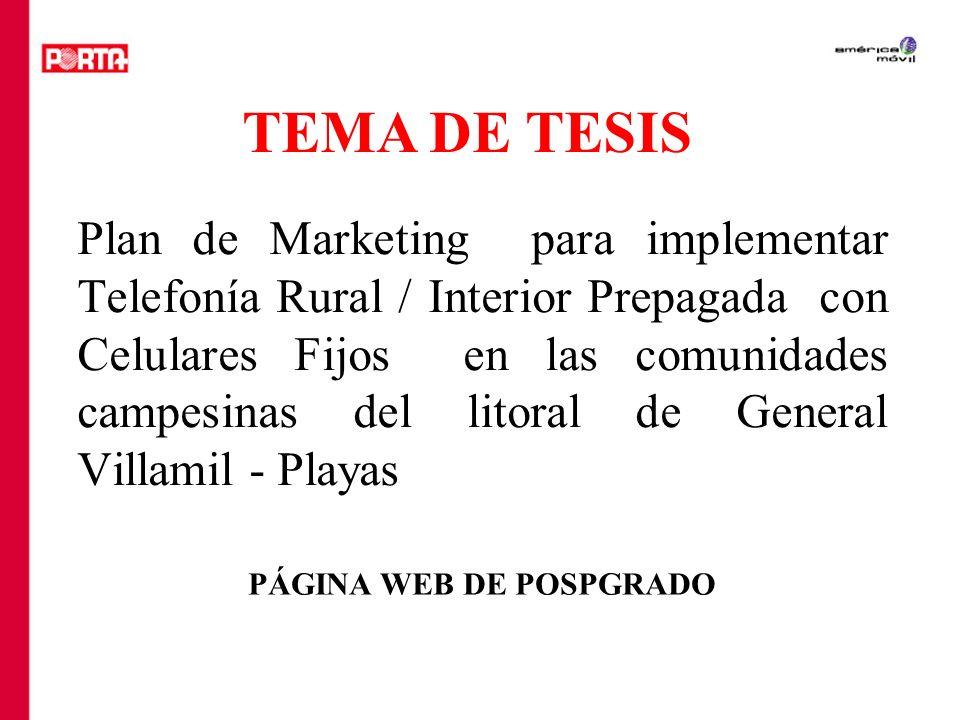TEMA DE TESIS