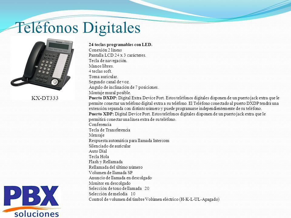 Teléfonos Digitales KX-DT333 24 teclas programables con LED.