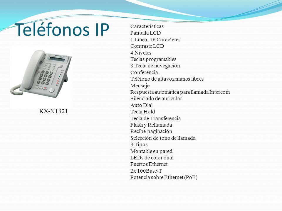 Teléfonos IP KX-NT321 Características Pantalla LCD