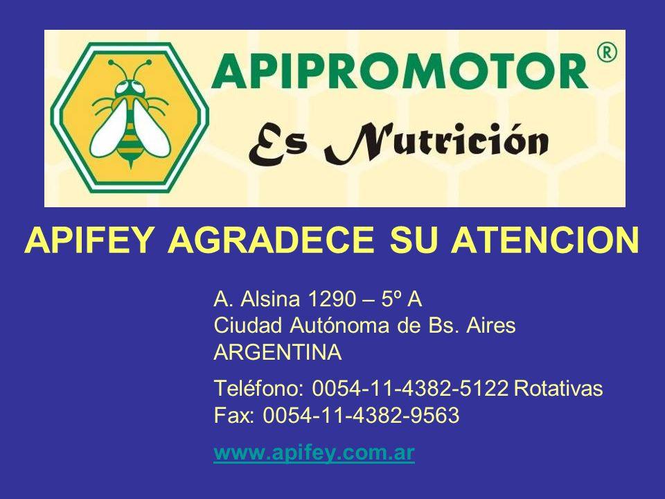 APIFEY AGRADECE SU ATENCION