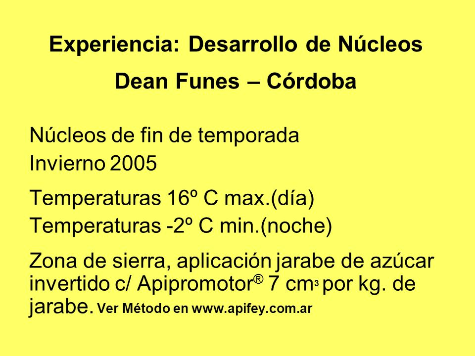 Experiencia: Desarrollo de Núcleos Dean Funes – Córdoba