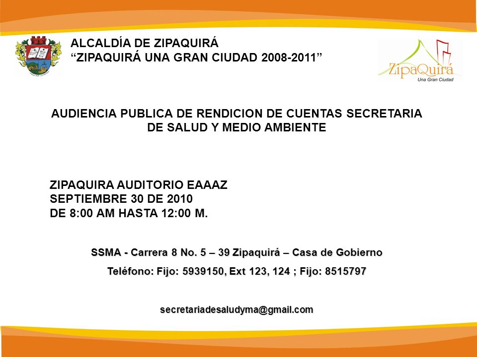 ZIPAQUIRÁ UNA GRAN CIUDAD 2008-2011