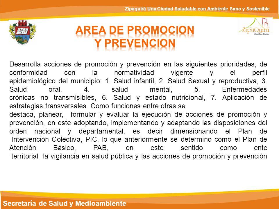 AREA DE PROMOCION Y PREVENCION