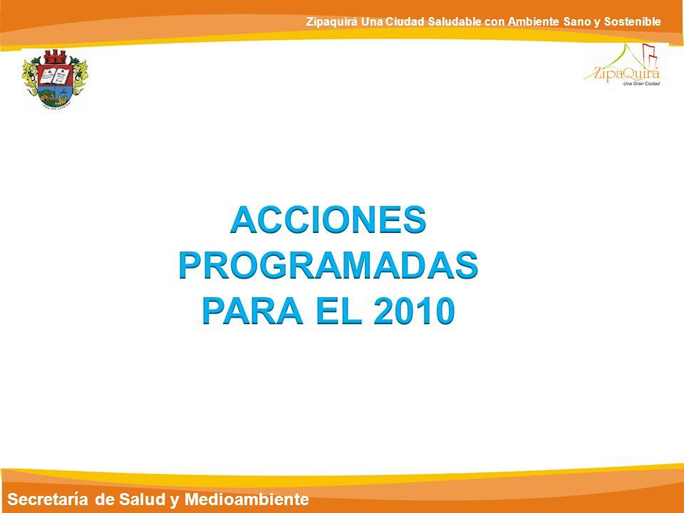 ACCIONES PROGRAMADAS PARA EL 2010