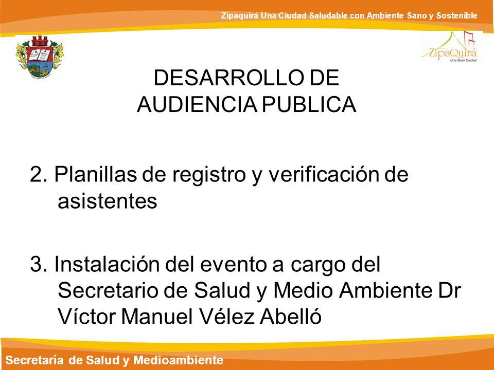 DESARROLLO DE AUDIENCIA PUBLICA