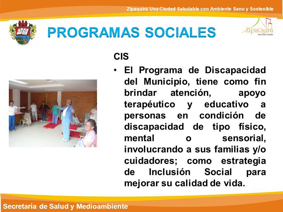 PROGRAMAS SOCIALES CIS