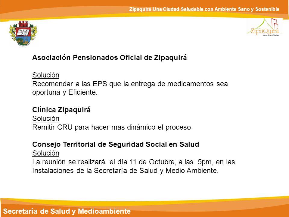 Asociación Pensionados Oficial de Zipaquirá Solución