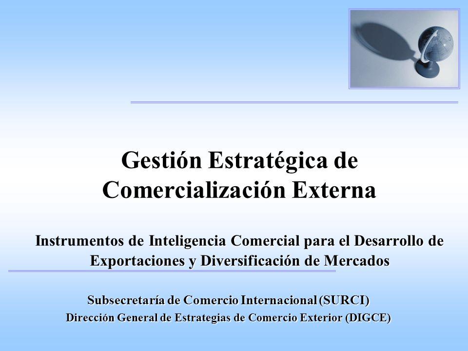 Gestión Estratégica de Comercialización Externa Instrumentos de Inteligencia Comercial para el Desarrollo de Exportaciones y Diversificación de Mercados