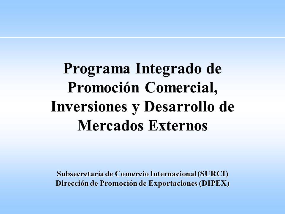 Programa Integrado de Promoción Comercial, Inversiones y Desarrollo de Mercados Externos