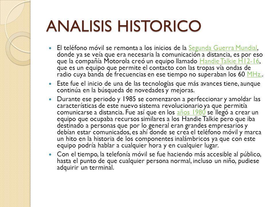 ANALISIS HISTORICO