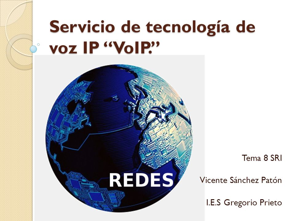 Servicio de tecnología de voz IP VoIP.
