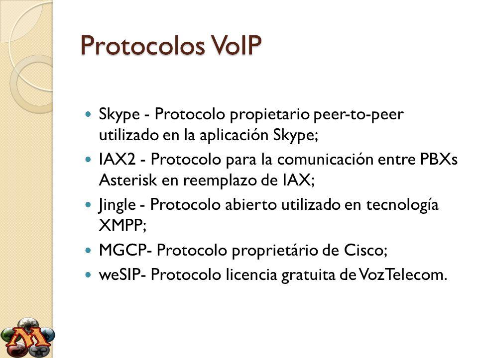Protocolos VoIP Skype - Protocolo propietario peer-to-peer utilizado en la aplicación Skype;