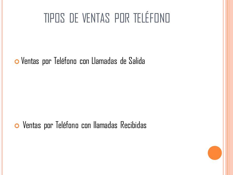 tipos de ventas por teléfono