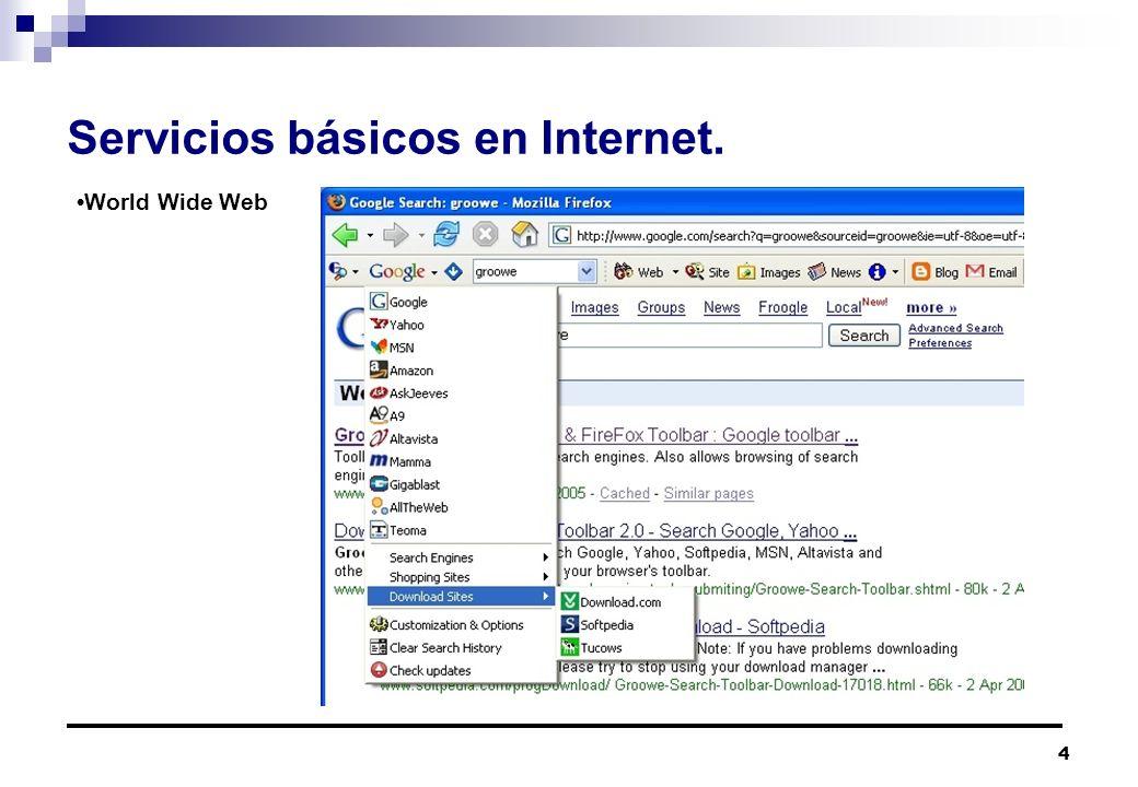 Servicios básicos en Internet.