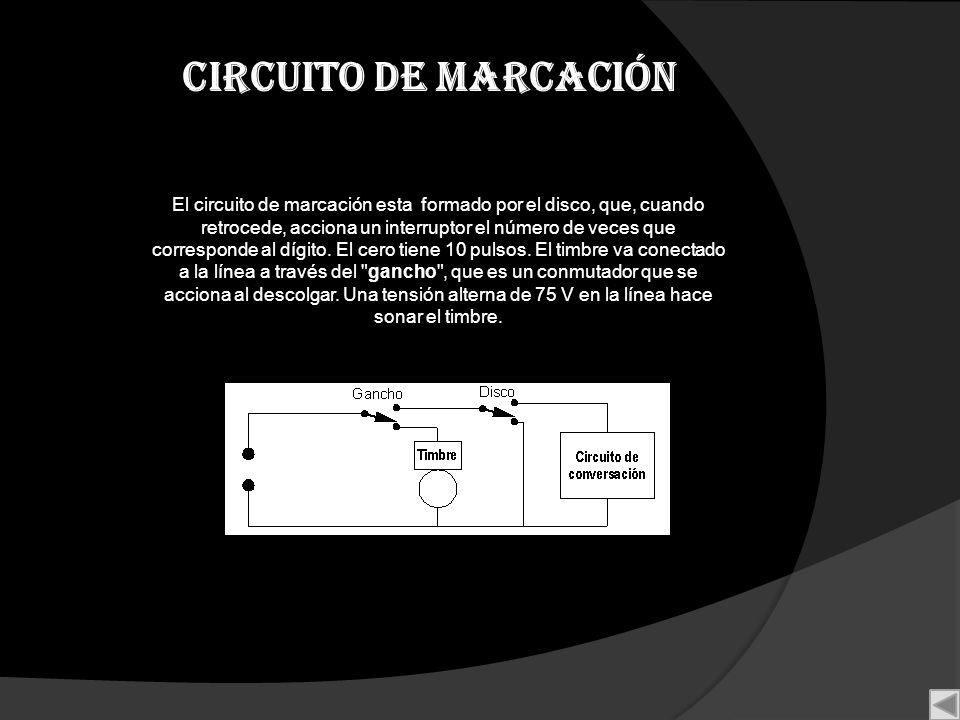 Circuito de marcación