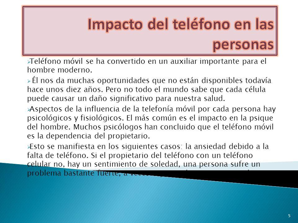 Impacto del teléfono en las personas