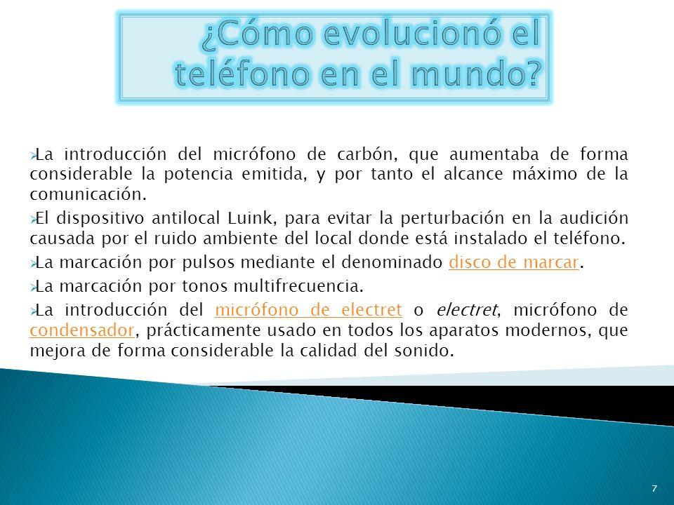 ¿Cómo evolucionó el teléfono en el mundo