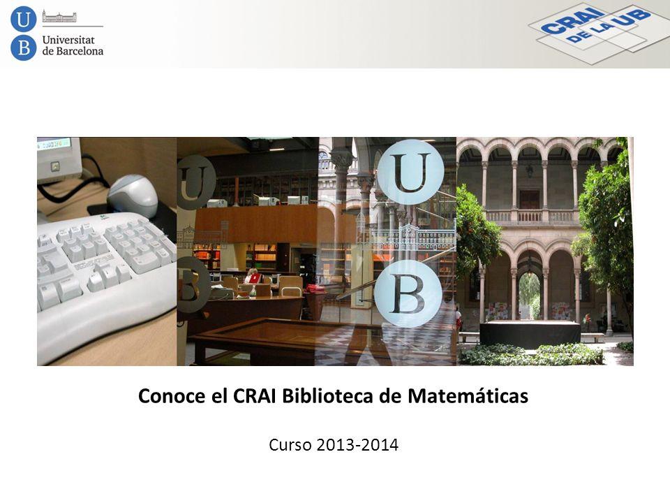 Conoce el CRAI Biblioteca de Matemáticas