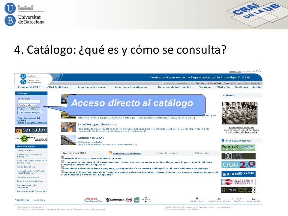 4. Catálogo: ¿qué es y cómo se consulta