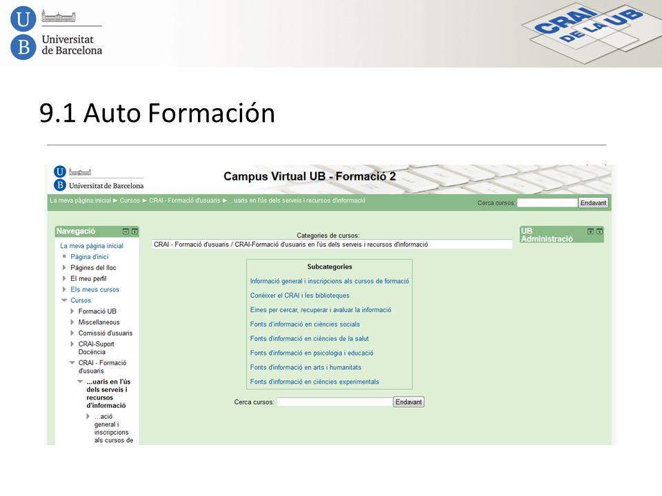 9.1 Auto Formación