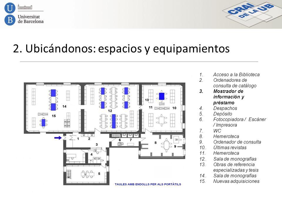 2. Ubicándonos: espacios y equipamientos