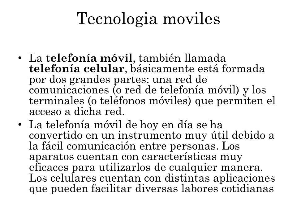 Tecnologia moviles