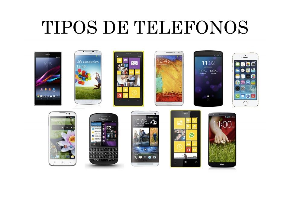 TIPOS DE TELEFONOS
