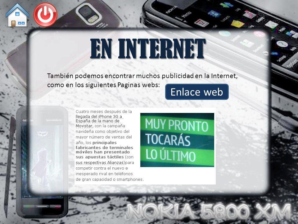 EN INTERNET También podemos encontrar muchos publicidad en la Internet, como en los siguientes Paginas webs: