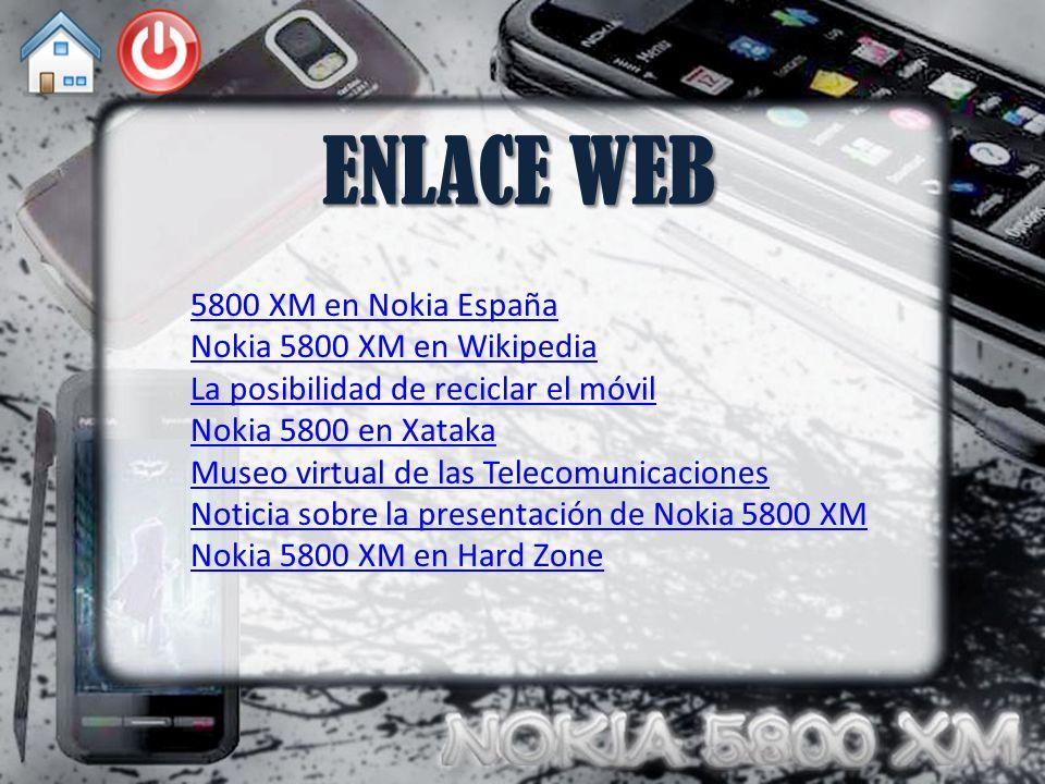 ENLACE WEB 5800 XM en Nokia España Nokia 5800 XM en Wikipedia