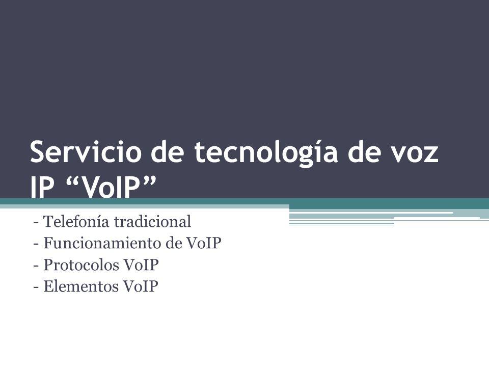 Servicio de tecnología de voz IP VoIP