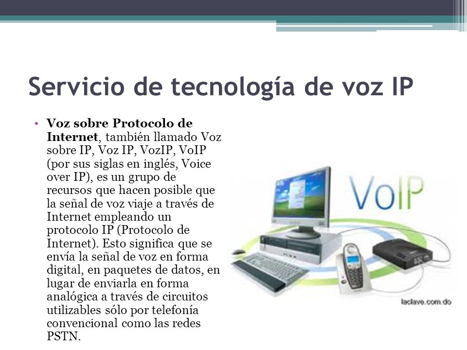Servicio de tecnología de voz IP