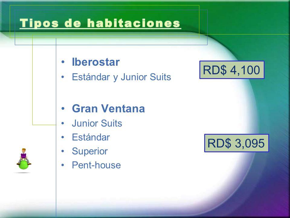RD$ 4,100 RD$ 3,095 Tipos de habitaciones Iberostar Gran Ventana