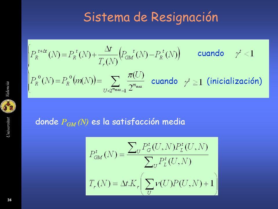 Sistema de Resignación