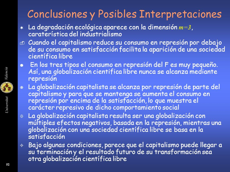 Conclusiones y Posibles Interpretaciones