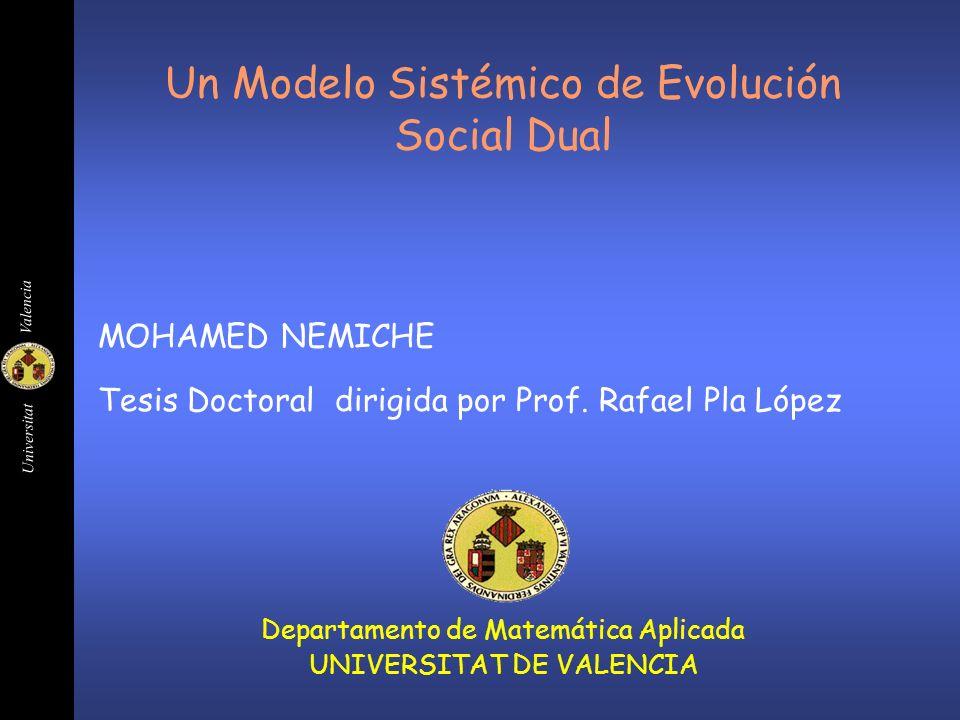 Un Modelo Sistémico de Evolución Social Dual