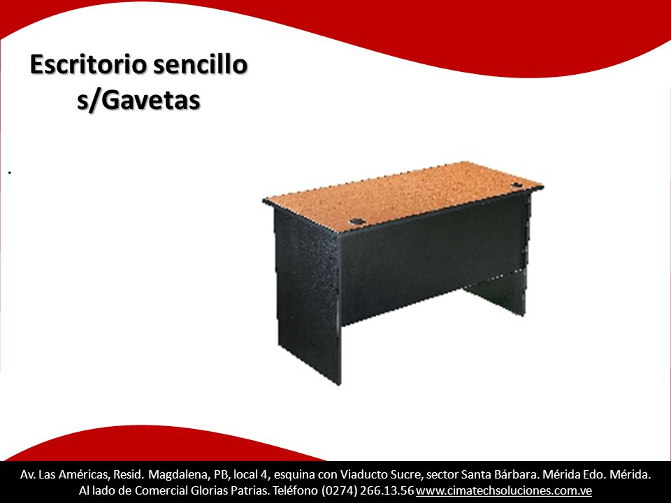 Escritorio sencillo s/Gavetas