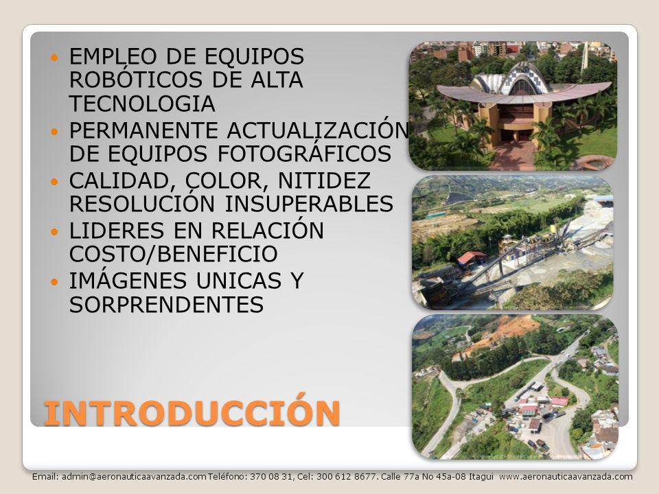 INTRODUCCIÓN EMPLEO DE EQUIPOS ROBÓTICOS DE ALTA TECNOLOGIA