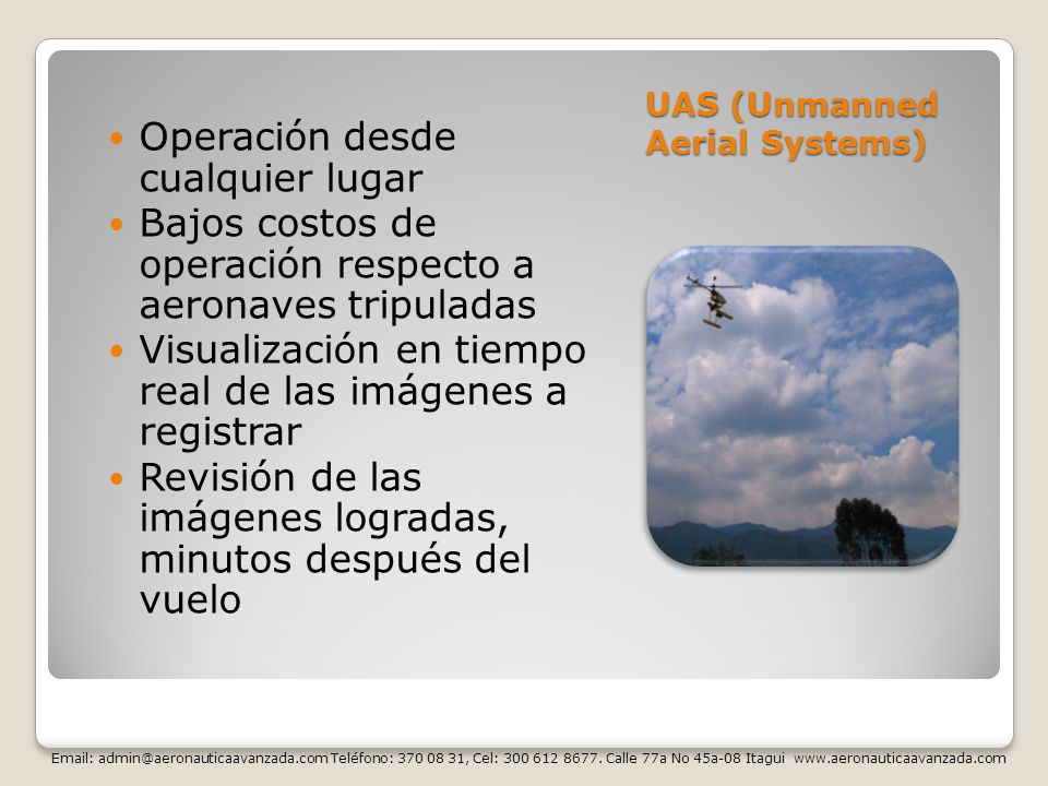 UAS (Unmanned Aerial Systems)