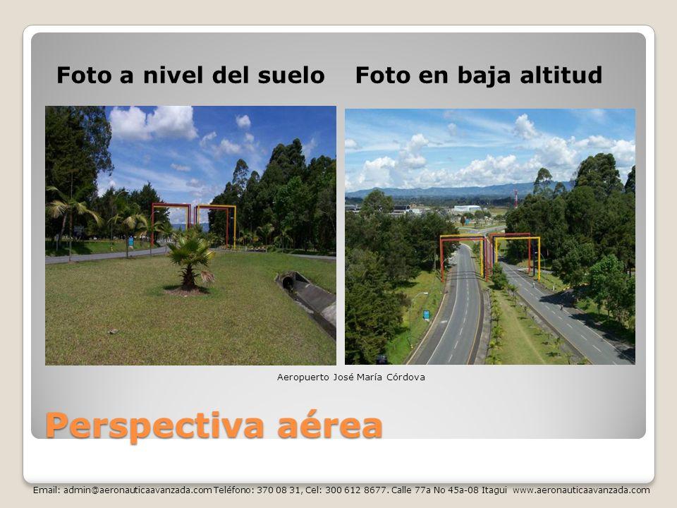 Perspectiva aérea Foto a nivel del suelo Foto en baja altitud