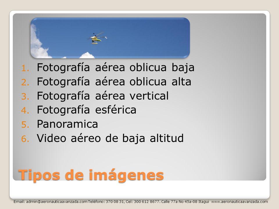 Tipos de imágenes Fotografía aérea oblicua baja