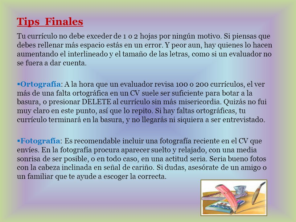 Tips Finales