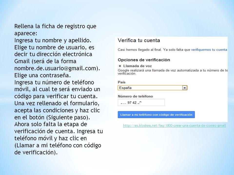 Rellena la ficha de registro que aparece: Ingresa tu nombre y apellido